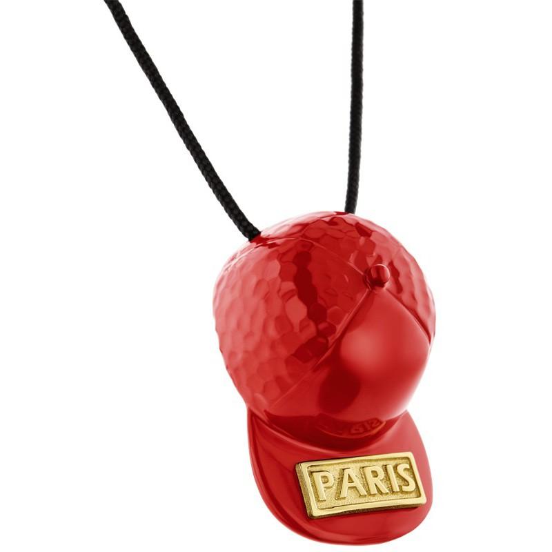 HONOR Κολιέ από ορείχαλκο Hat Paris Red HONORP157