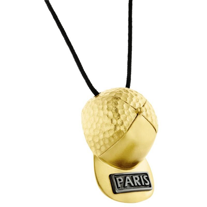 HONOR Κολιέ από ορείχαλκο Hat Paris Gold HONORP158