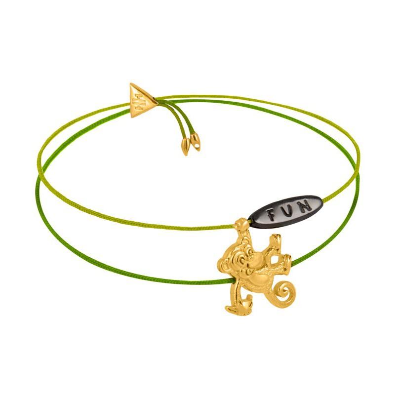 HONOR Βραχιόλι από ορείχαλκο Animal Instinct Gold HONORB19