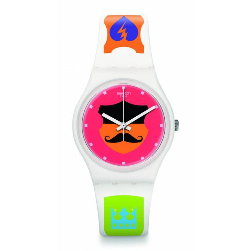 Ρολόι SWATCH GW179 Graphistyle με Λευκό Καουτσούκ Λουράκι
