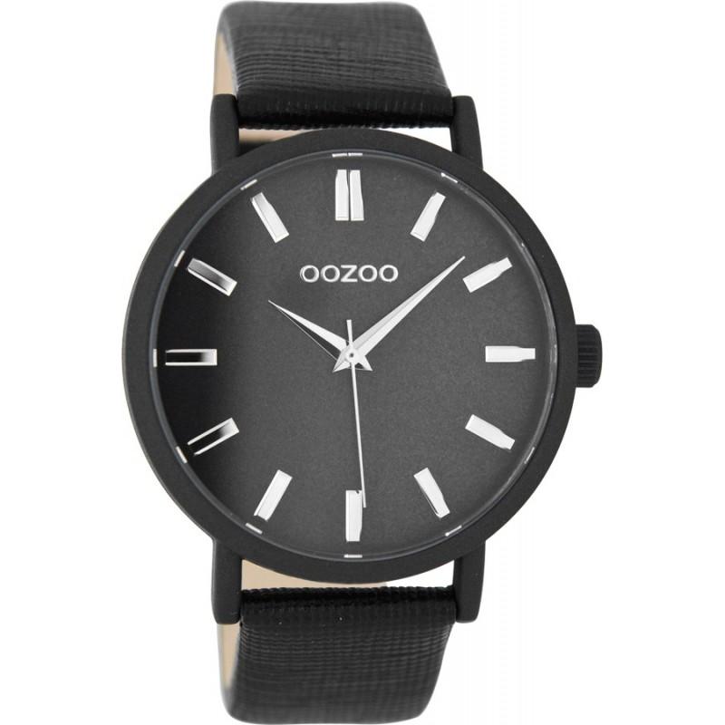 Ρολόι OOZOO C8334 Timepieces με Μαύρο Δερμάτινο Λουράκι
