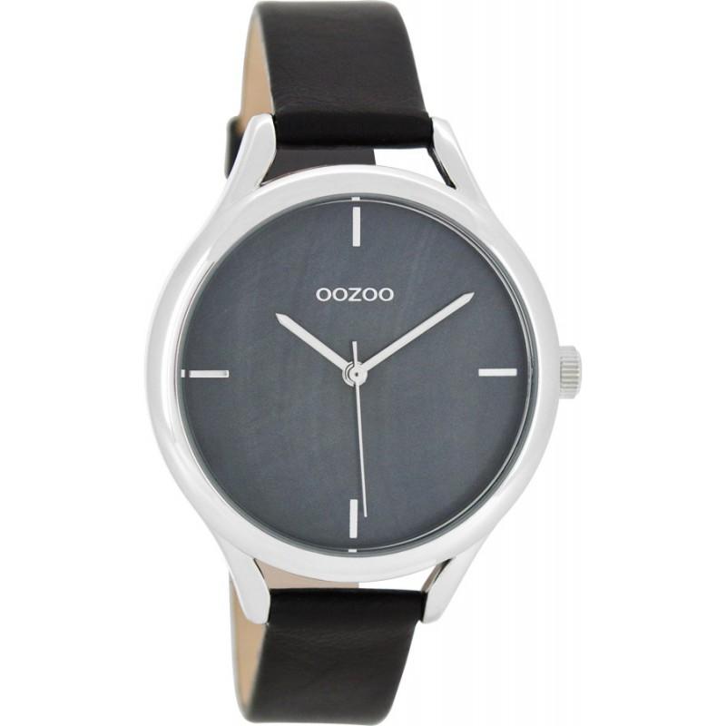 Ρολόι OOZOO C8349 Timepieces με Μαύρο Δερμάτινο Λουράκι