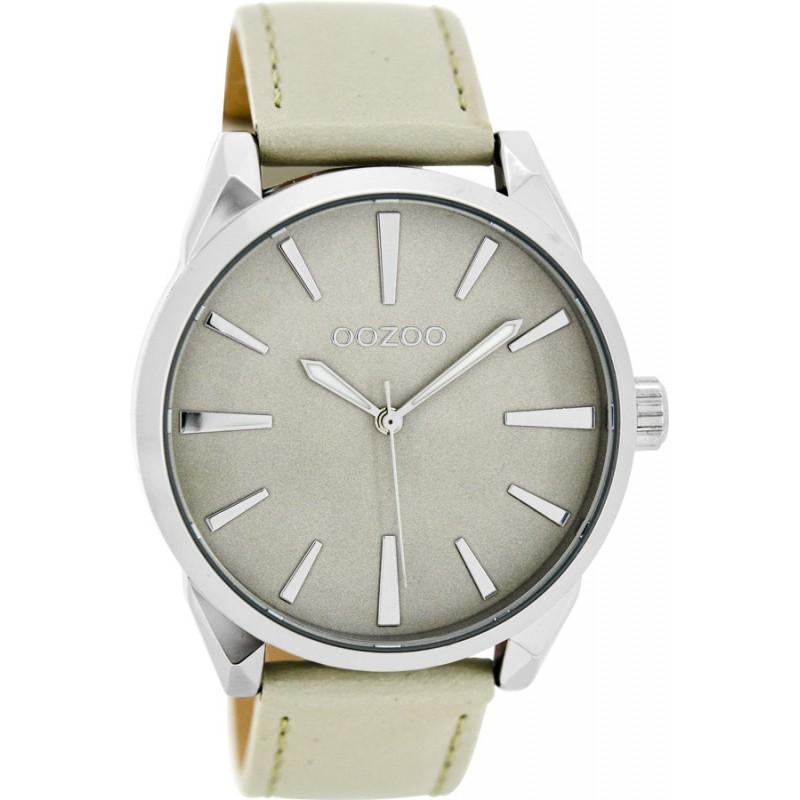 Ρολόι OOZOO C8360 Timepieces με Γκρί Δερμάτινο Λουράκι