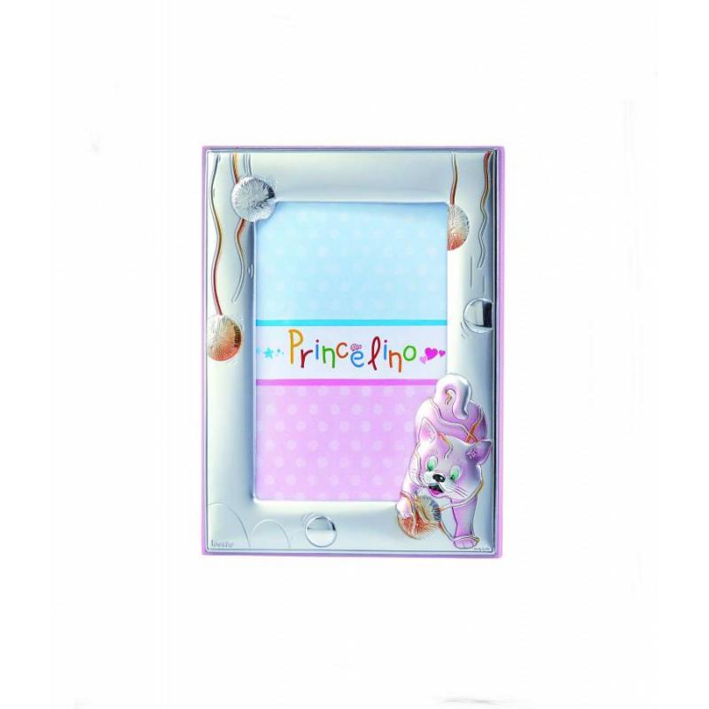 Ασημένια παιδική εικόνα κούνιας για αγόρι σε σιέλ χρώμα MA/DM1110-LC
