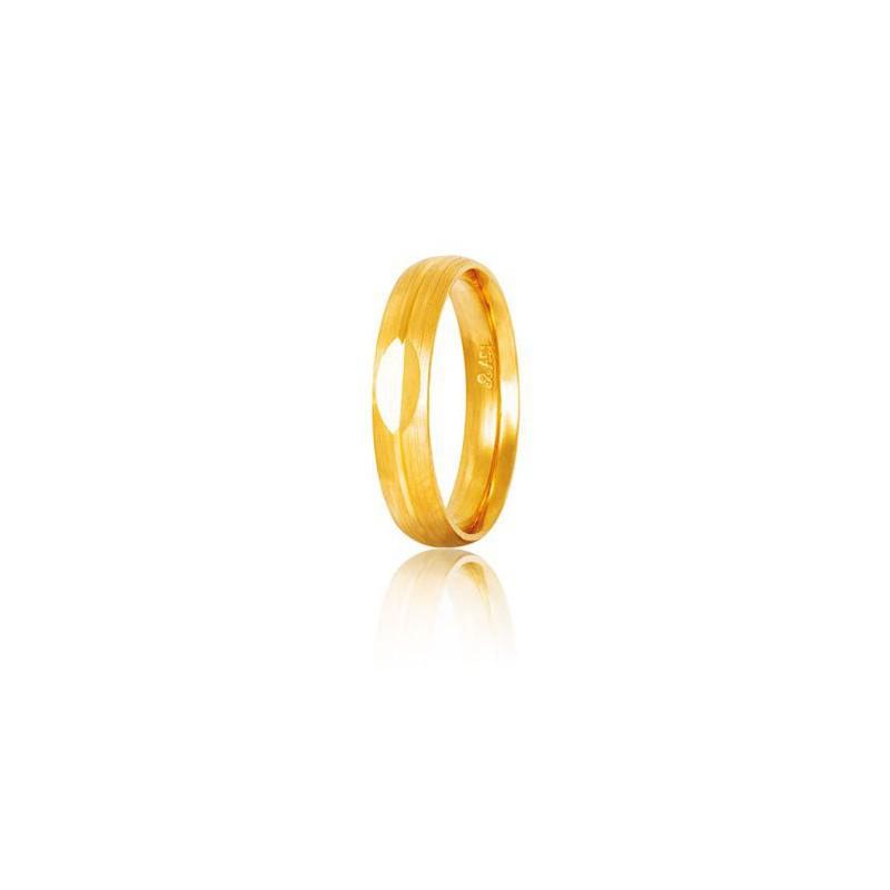 Χρυσή βέρα S10GC Ανδρική/ Γυναικεία για Γάμο/ Αρραβώνα 9 καρατίων.
