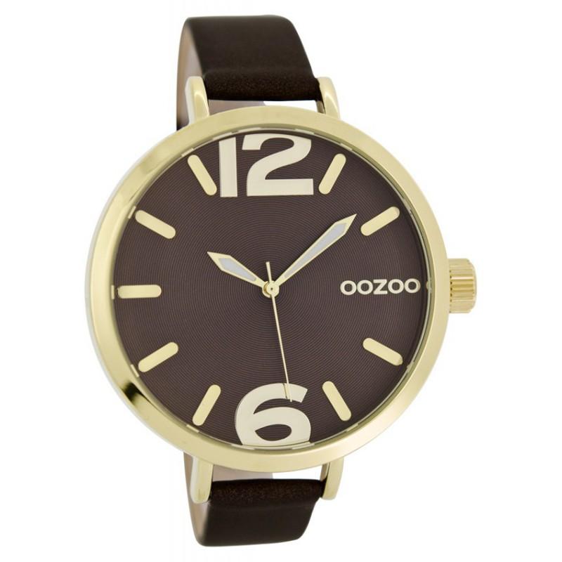 Ρολόι OOZOO C6953 Timepieces Slim με Καφέ Δερμάτινο Λουράκι