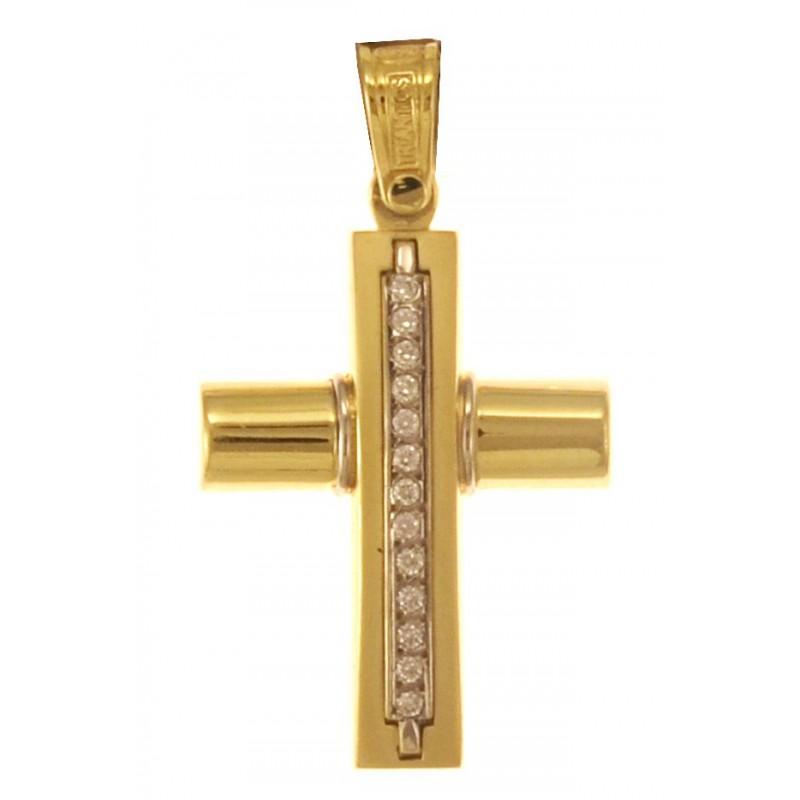 Χρυσός σταυρός 14 καρατίων TRIANTOS ST324TR6.5