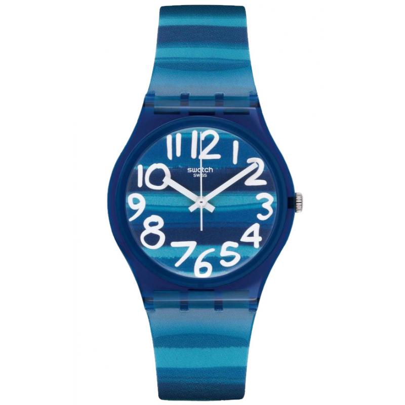 Ρολόι SWATCH GN237 Linajola Blue με Καουτσούκ Λουράκι