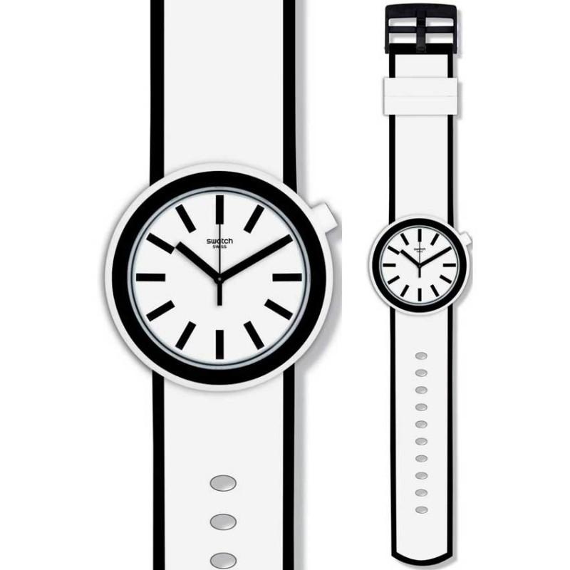 Ρολόι SWATCH PNW100 Popmoving με Λευκό Καουτσούκ Λουράκι
