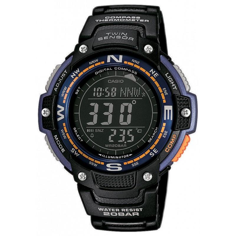 Ρολόι CASIO SGW-100-2BER Standard με Μαύρο Καουτσούκ Λουράκι Χρονογράφο