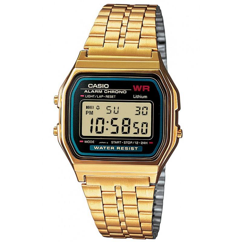 Ρολόι CASIO A-159WGEA-1EF Collection με Χρυσό Ατσάλινο Μπρασελέ