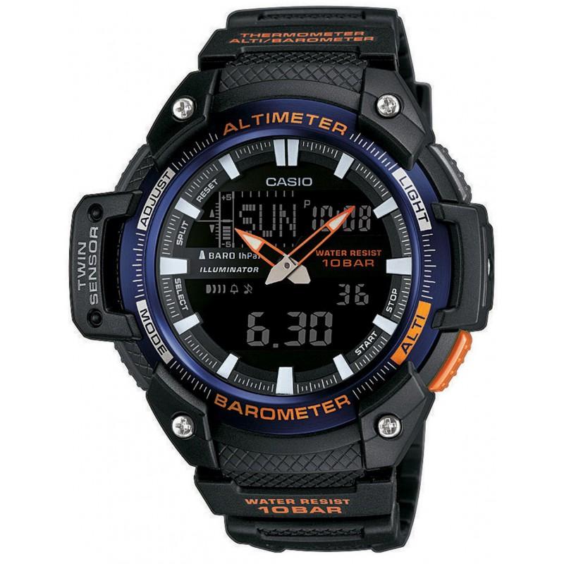 Ρολόι CASIO SGW-450H-2BER Collection με Μαύρο Καουτσούκ Λουράκι