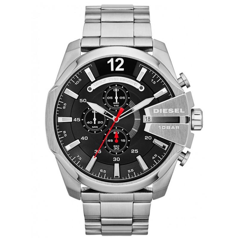 Ρολόι DIESEL DZ4308 Mega Chief με Ατσάλινο Μπρασελέ Χρονογράφο