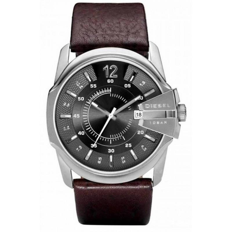 Ρολόι DIESEL DZ1206 Goose με Σκούρο Καφέ Δερμάτινο Λουράκι