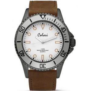 Ρολόι COLORI COL352 με Καφέ...