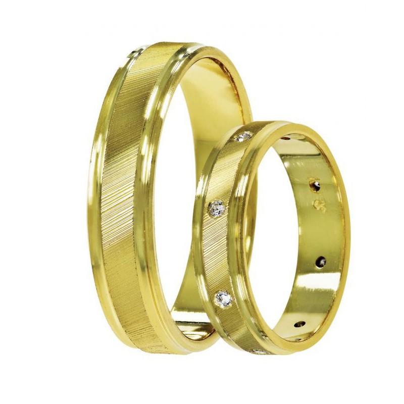 Χρυσή βέρα SAT11 Αντρική/Γυναικεία για Γάμο/Αρραβώνα 9 καρατίων