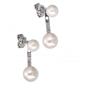 Λευκόχρυσα  σκουλαρίκια SK321