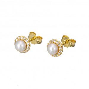 Χρυσά σκουλαρίκια SK322