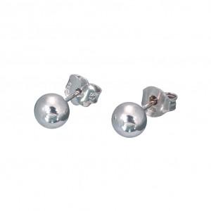 Λευκόχρυσα  σκουλαρίκια SK326