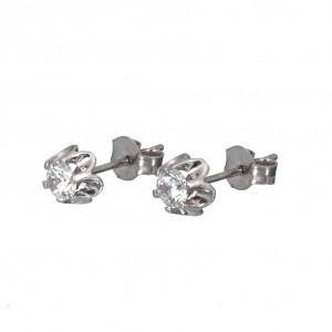 Λευκόχρυσα  σκουλαρίκια SK327