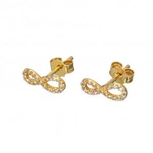 Χρυσά σκουλαρίκια άπειρο SK366