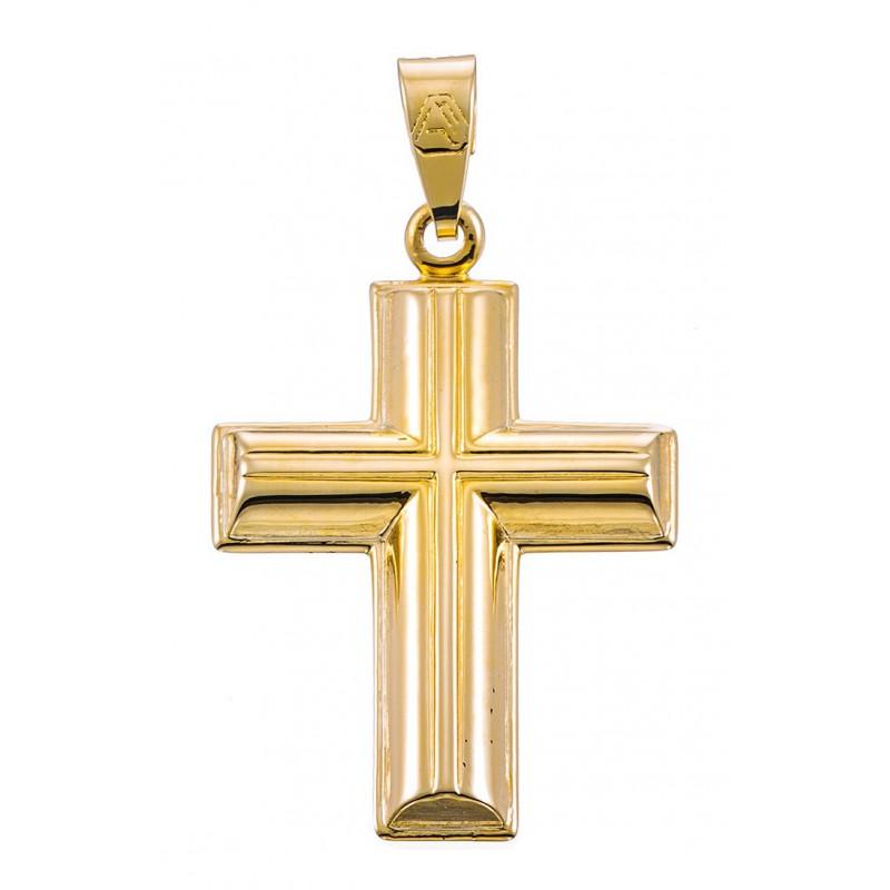 Χρυσός  σταυρός 14 καρατίων ST225 Σταυρός χρυσός για βάπτιση/αρραβώνα Σταυρός χρυσός για αγόρι/κορίτσι