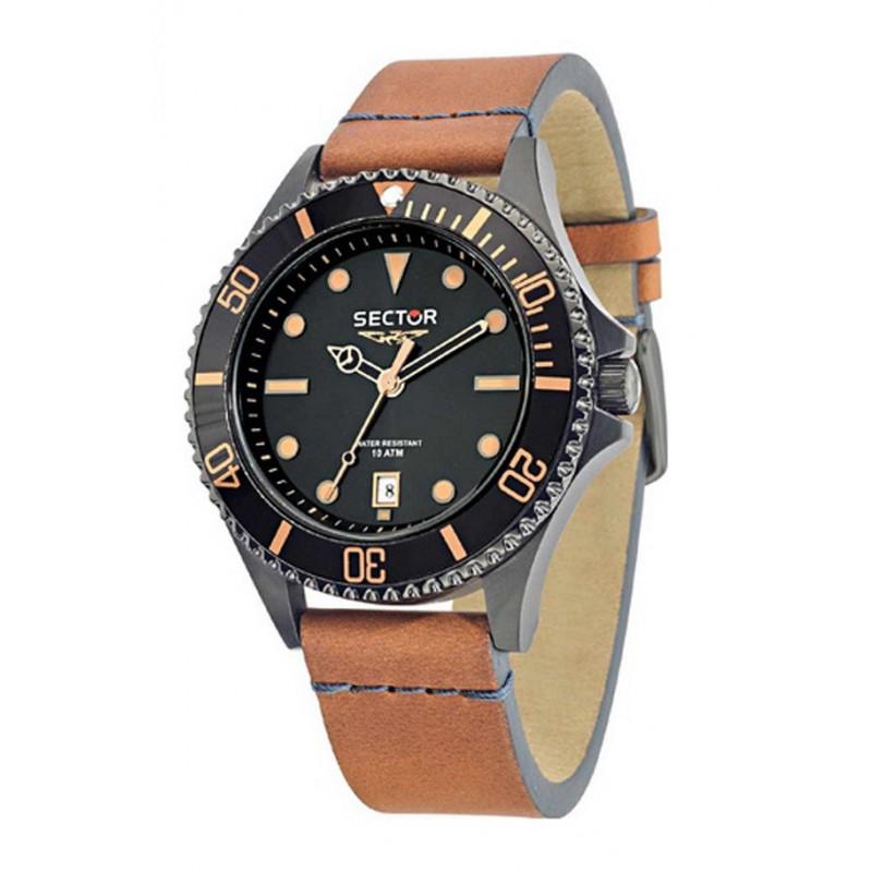 Ρολόι SECTOR R3251161014 235 με Καφέ Δερμάτινο Λουράκι