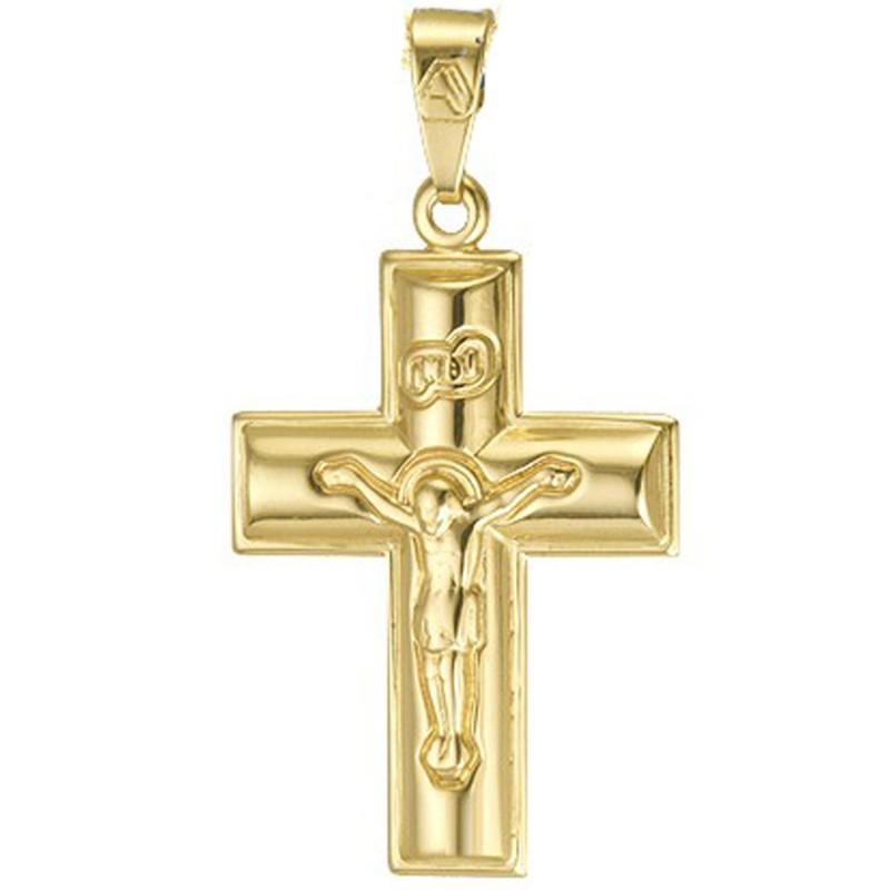 Σταυρός χρυσός ST219MOYX7.Σταυρός χρυσός βαπτισής/αρραβώνα για αγόρι .Σταυρός χρυσόs 14 καρατίων