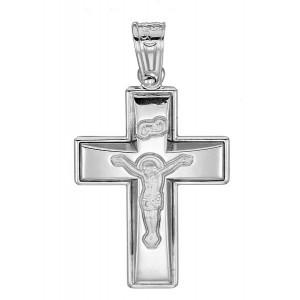 Λευκόχρυσος  σταυρός σε 14...