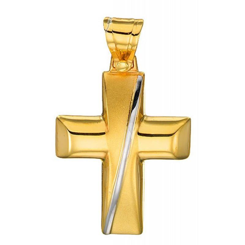 Χρυσός σταυρός 14 καρατίων ST2072BAR