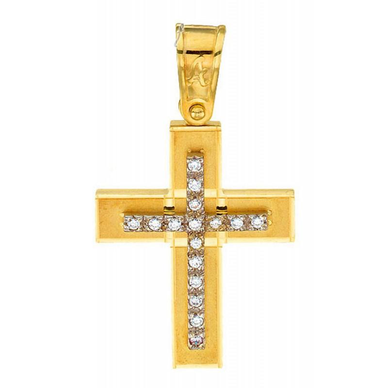 Χρυσός  σταυρός 14 καρατίων ST152BAR