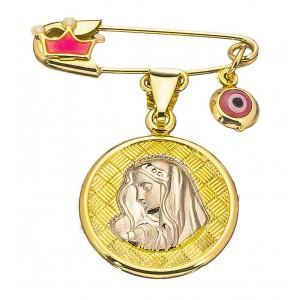 Χρυσή παραμάνα παναγίτσα PA189