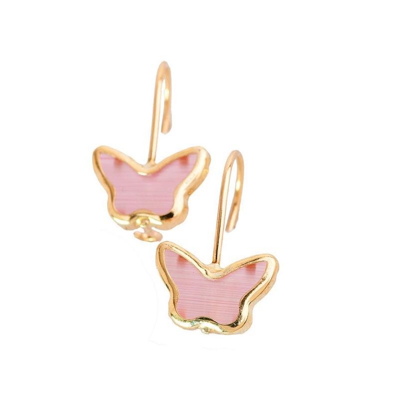 Χρυσά παιδικά σκουλαρίκια πεταλούδες SK108