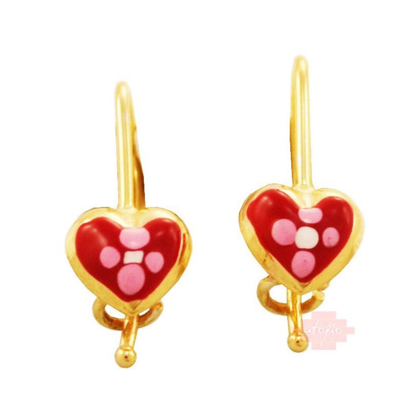 Χρυσά παιδικά σκουλαρίκια  S99PAP
