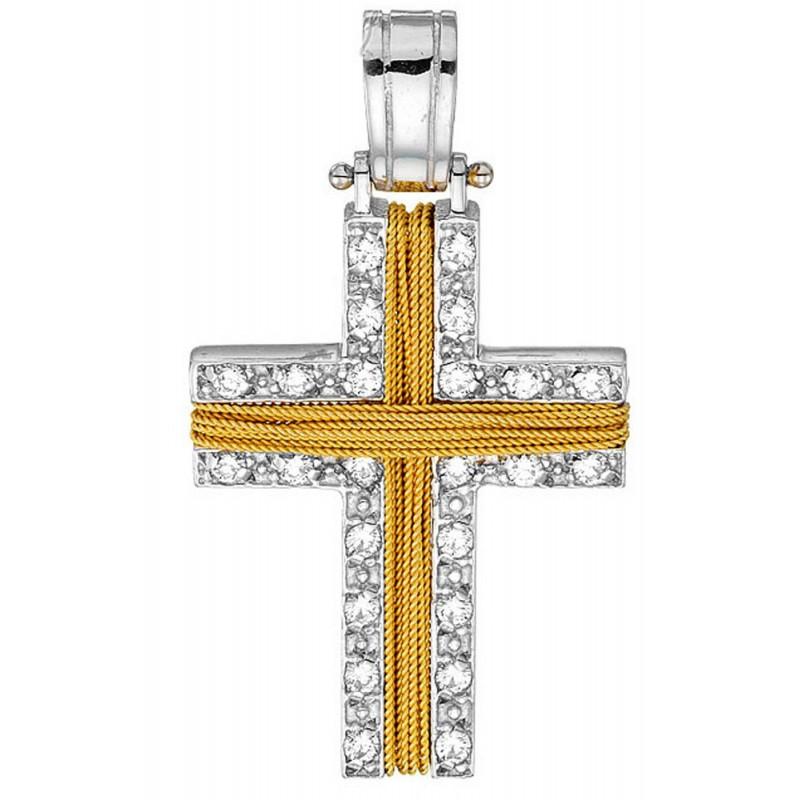 Χρυσός σταυρός 14καρατίων ST881BAR