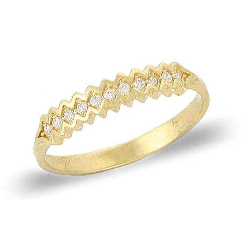 Χρυσό γυναικείο δαχτυλίδι  μισόβερο 14 καρατίων RN11400