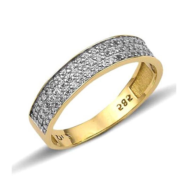 Χρυσό γυναικείο  δαχτυλίδι με ζιργκόν  RN11983