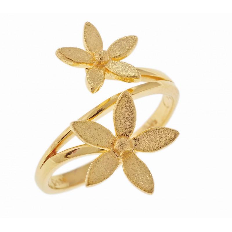 Χρυσό   γυναικείο δαχτυλίδι 14 καρατίων B458