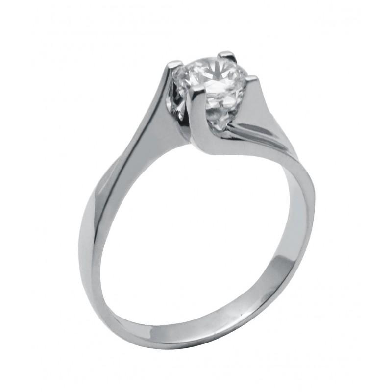 Λευκόχρυσο γυναικείο δαχτυλίδι 14καρατίων 556ROT