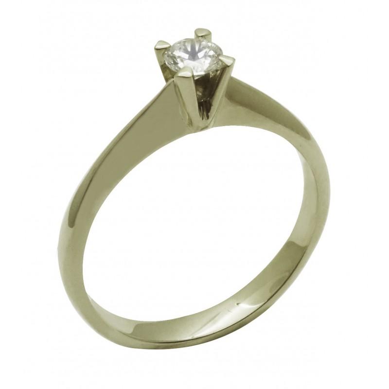 Λευκόχρυσο   γυναικείο μονόπετρο δαχτυλίδι RL557 18 καρατίων