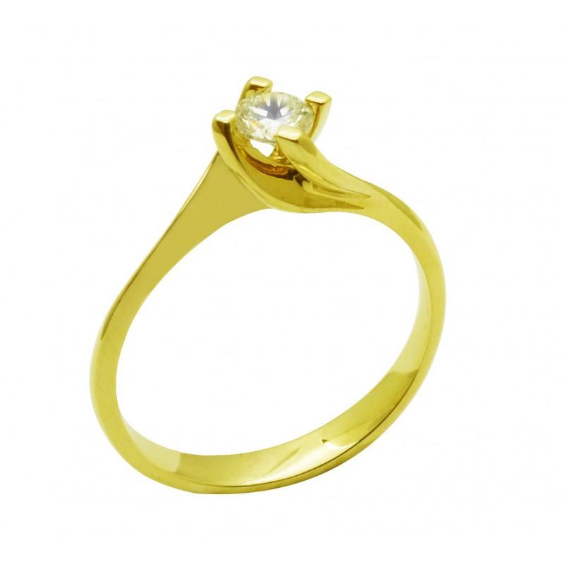 Χρυσό  γυναικείο δαχτυλίδι  14 καρατίων R619M