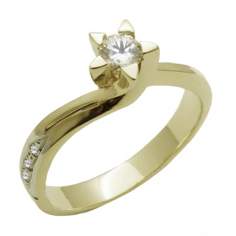 Λευκόχρυσο γυναικείο δαχτυλίδι μονόπετρο 14 καρατίων ROL537