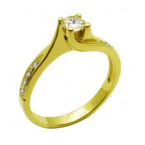 Χρυσό μονοπετρο  δαχτυλίδι...