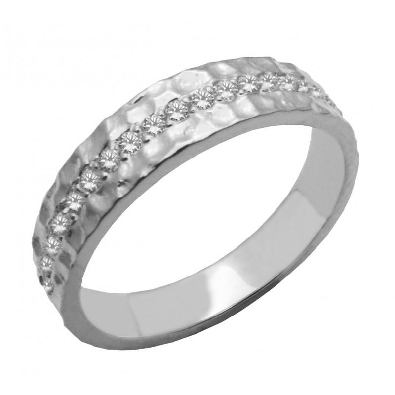 Λευκόχρυσο  δαχτυλίδι 14 καρατίων R745