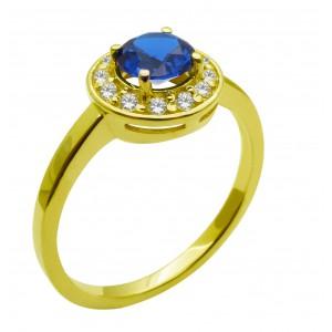 Χρυσό  δαχτυλίδι ροζέτα...