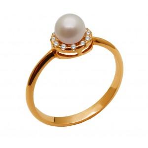 Ροζ χρυσό δαχτυλίδι με...
