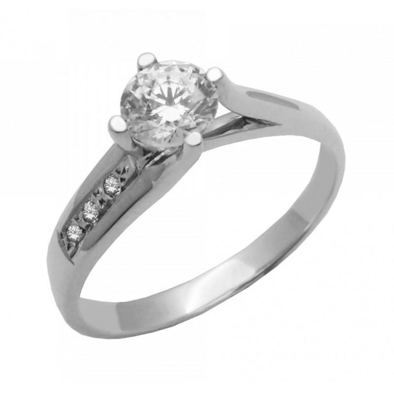 Λευκόχρυσο γυναικείο δαχτυλίδι 14 καρατίων 543ROT