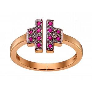 Ροζ χρυσό δαχτυλίδι 14...