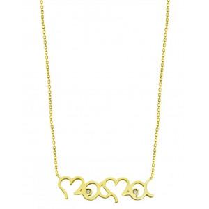 Χρυσό κολιέ R323 ''mama'' 9...
