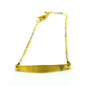 Χρυσό βραχιόλι BA411 14...